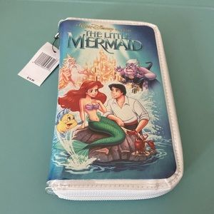 "Disney The Little Mermaid ""VHS CASE"" Clutch Wallet"